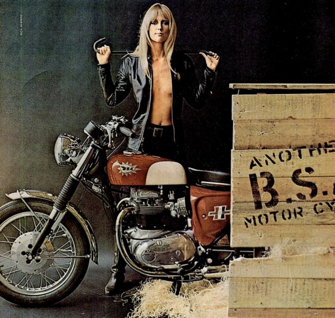 Magazine Ad for 1967 BSA Motorcycle